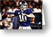 Eli Manning Greeting Cards - Eli Manning Greeting Card by The DigArtisT