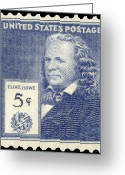 Postage Stamp Greeting Cards - Elias Howe (1819-1867) Greeting Card by Granger