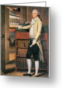 Colonial Man Painting Greeting Cards - Elijah Boardman Greeting Card by Ralph Earl