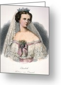 Corsage Greeting Cards - Elisabeth Of Austria Greeting Card by Granger