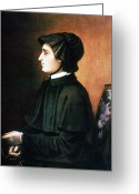 Rosary Greeting Cards - Elizabeth Ann Seton Greeting Card by Granger