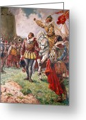Monarchs Greeting Cards - Elizabeth I the Warrior Queen Greeting Card by CL Doughty