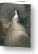 Tulle Greeting Cards - Elizabeth of Bavaria Greeting Card by Franz Xavier Winterhalter