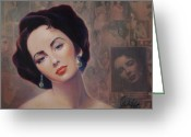 Starlet Greeting Cards - Elizabeth Greeting Card by Stapler-Kozek