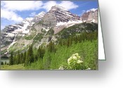 White River Greeting Cards - Elk Mountains Greeting Card by Eric Glaser