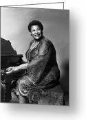 Earrings Photo Greeting Cards - Ella Fitzgerald (1917-1996) Greeting Card by Granger