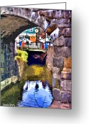 Clock Greeting Cards - Ellicott City Bridge Arch Greeting Card by Stephen Younts