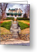 Ellicott Greeting Cards - Ellicott City House Greeting Card by Stephen Younts