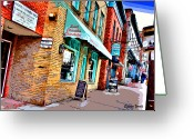 Catonsville Greeting Cards - Ellicott City Shops Greeting Card by Stephen Younts