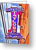Catonsville Greeting Cards - Ellicott City Taylors Sign Greeting Card by Stephen Younts
