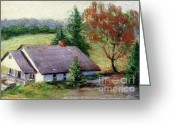 Purples Pastels Greeting Cards - Ellijay Home Greeting Card by Gretchen Allen
