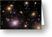 Plasma Greeting Cards - Elliptical Galaxy Ngc 1275 Greeting Card by R Jay GaBany