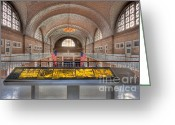 Great Hall Greeting Cards - Ellis Island Registry Room I Greeting Card by Clarence Holmes
