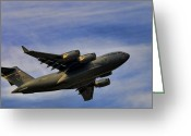 Military Aircraft Greeting Cards - Elmendorf Third Wing Greeting Card by Steven Richardson