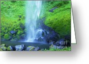 Scenic Greeting Cards - Elowah Falls Greeting Card by Photography Moments - Sandi