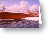 Bay Islands Painting Greeting Cards - Elusive Greeting Card by Richard De Wolfe
