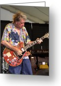 County Fair Greeting Cards - Elvin Bishop Greeting Card by Bill Gallagher