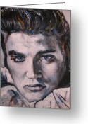 Elvis Greeting Cards - Elvis 2 Greeting Card by Eric Dee