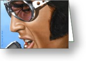 Singer Painting Greeting Cards - Elvis 24 1970 Greeting Card by Rob De Vries