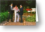 Hall Of Fame Photo Greeting Cards - Elvis and the Blues Greeting Card by Randy Rosenberger
