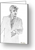 Elvis Presley Art Greeting Cards - Elvis  Greeting Card by Chuck Staley