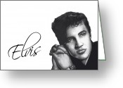 Rock Drawings Greeting Cards - Elvis Greeting Card by Lee Appleby