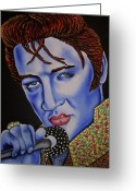 Nannette Harris Greeting Cards - Elvis Greeting Card by Nannette Harris