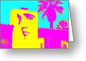 Celebrities Photo Greeting Cards - Elvis Palm Springs 2 Greeting Card by Randall Weidner