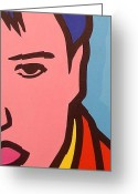 Elvis Presley Art Greeting Cards - Elvis Presley Greeting Card by John  Nolan
