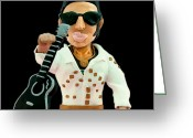 Elvis Icon Sculpture Greeting Cards - Elvis Presley Greeting Card by Louisa Houchen