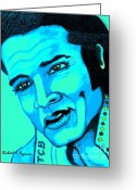 Male Forms Greeting Cards - Elvis Greeting Card by Richard Heyman