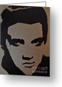 Tom Evans Greeting Cards - Elvis Greeting Card by Tom Evans