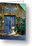 Tucson Arizona Digital Art Greeting Cards - Elysian Grove In The Morning Greeting Card by Lois Bryan