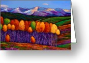 Color Painting Greeting Cards - Elysian Greeting Card by Johnathan Harris