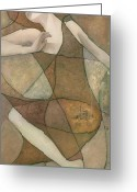 Klimt Greeting Cards - Elysium Greeting Card by Steve Mitchell