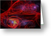 Red Lines Greeting Cards - Embolize Greeting Card by Anthony Caruso