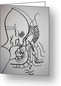 Embrace Drawings Greeting Cards - Embrace Greeting Card by Gloria Ssali