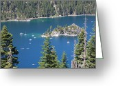 California Landscapes Greeting Cards - Emerald Bay Greeting Card by Carol Groenen