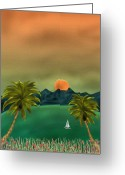 Tropical Island Greeting Cards - Emerald Bay Greeting Card by Gordon Beck