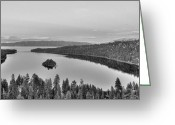 Most Photographed Photo Greeting Cards - Emerald Bay Lake Tahoe Greeting Card by Brad Scott