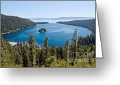 Quite Greeting Cards - Emerald Bay morning Greeting Card by Jim Chamberlain