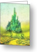 Mo Greeting Cards - Emerald City Greeting Card by Mo T