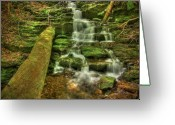 Creek Greeting Cards - Emerald Dreams Greeting Card by Evelina Kremsdorf