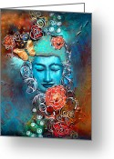 Buddhist Greeting Cards - Emergence Greeting Card by Tara Catalano