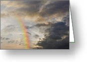 Sausalito Greeting Cards - Emerging Rainbow Greeting Card by John Lund
