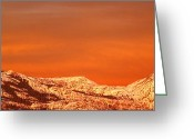 Mountain Peaks Greeting Cards - Emigrant Gap Greeting Card by Bill Gallagher