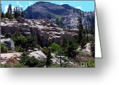 Skiing Greeting Cards - Emigrant Peak Squaw Valley USA Greeting Card by Scott McGuire