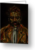 Zapata Greeting Cards - Emiliano Zapata Greeting Card by Americo Salazar