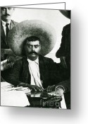 Zapata Greeting Cards - Emiliano Zapata Greeting Card by Science Source