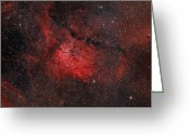 Interstellar Clouds Photo Greeting Cards - Emission Nebula Ngc 6820 Greeting Card by Rolf Geissinger